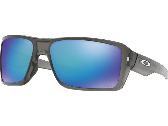 Oakley Double Edge Bril, grey smoke/prizm sapphire polarized